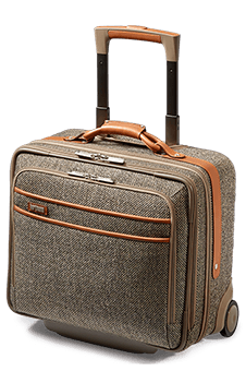 Hartmann Tweed Belting Rolling Business Bag Natural Tweed